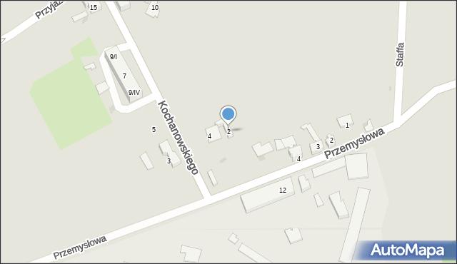 Czerwionka-Leszczyny, Kochanowskiego Jana, 2, mapa Czerwionka-Leszczyny