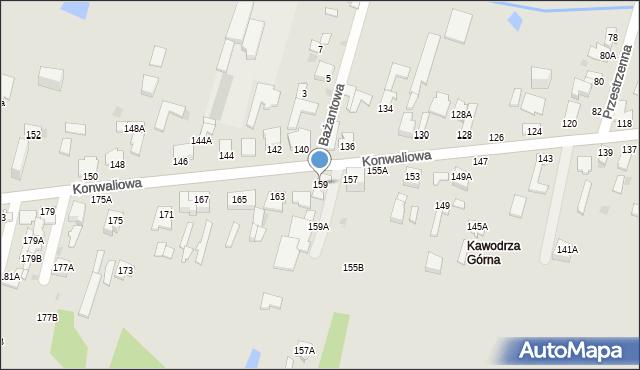 Częstochowa, Konwaliowa, 159, mapa Częstochowy