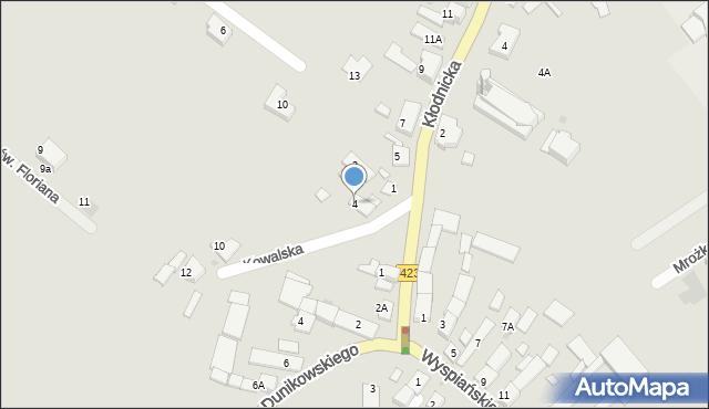 Kędzierzyn-Koźle, Kowalska, 4, mapa Kędzierzyna-Koźle