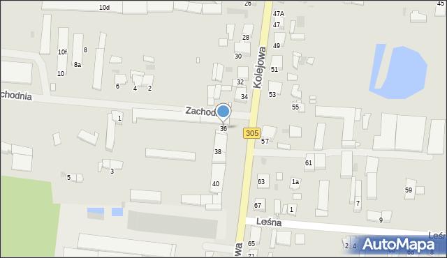 Nowy Tomyśl, Kolejowa, 36, mapa Nowy Tomyśl