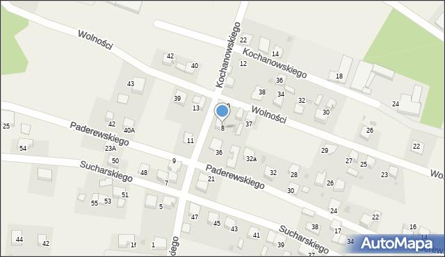 Piasek, Kochanowskiego J., 8, mapa Piasek
