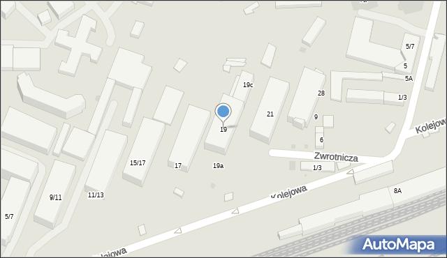 Warszawa, Kolejowa, 19, mapa Warszawy