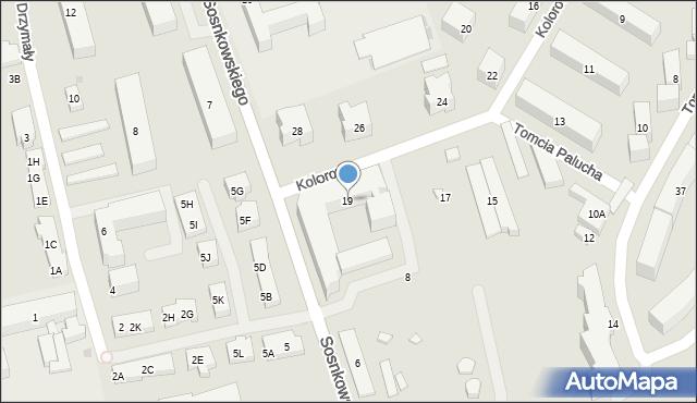 Warszawa, Kolorowa, 19, mapa Warszawy