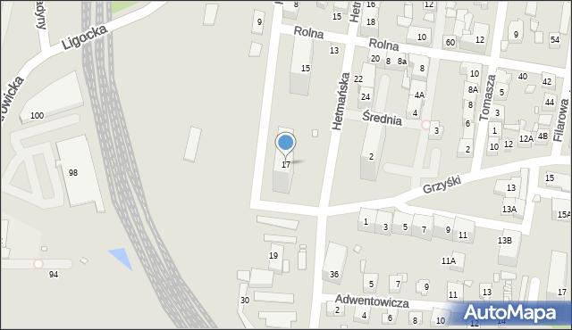 Katowice, Kredytowa, 17, mapa Katowic