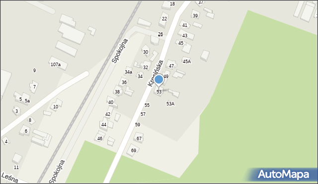 Krosno, Krosińska, 53, mapa Krosna