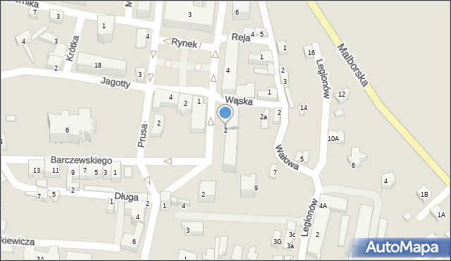 Prabuty, Kraszewskiego, 2, mapa Prabuty