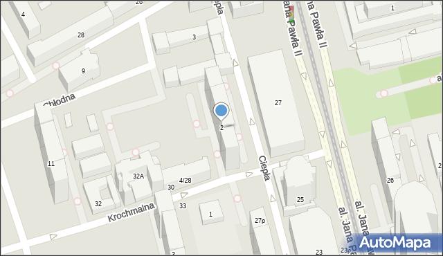 Warszawa, Krochmalna, 2, mapa Warszawy