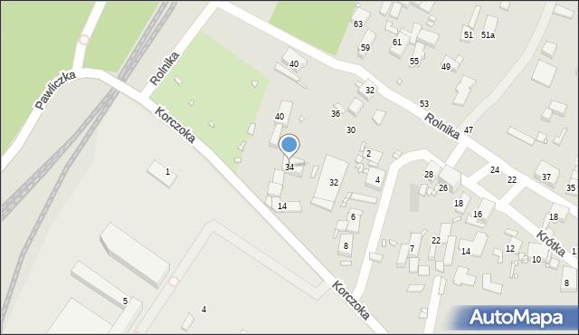 Zabrze, Krótka, 34, mapa Zabrza