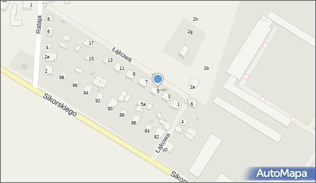 Kętrzyn, Łąkowa, 5, mapa Kętrzyn