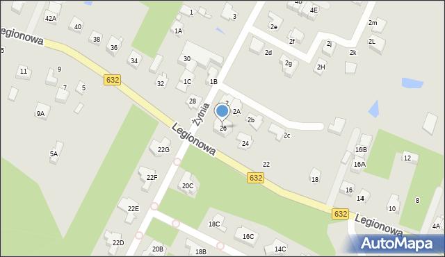 Marki, Legionowa, 26c, mapa Marki