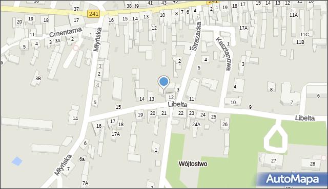 Kcynia, Libelta, 12A, mapa Kcynia
