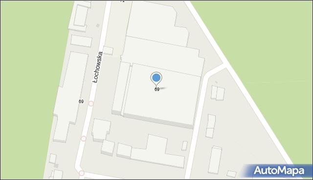 Bydgoszcz, Łochowska, 69, mapa Bydgoszczy
