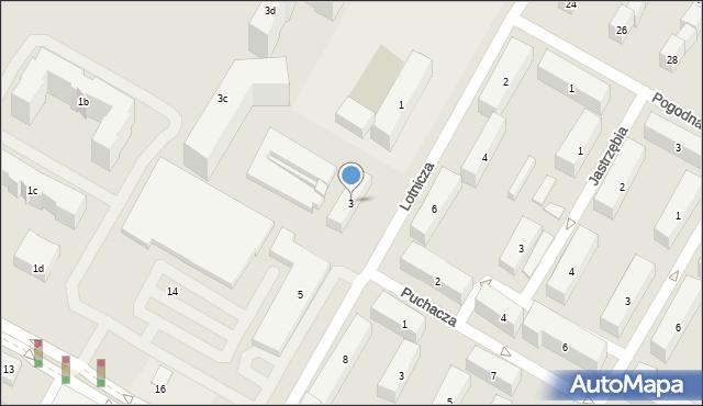 Lublin, Lotnicza, 3, mapa Lublina