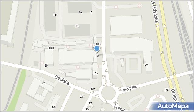 Gdynia, Łużycka, 10, mapa Gdyni