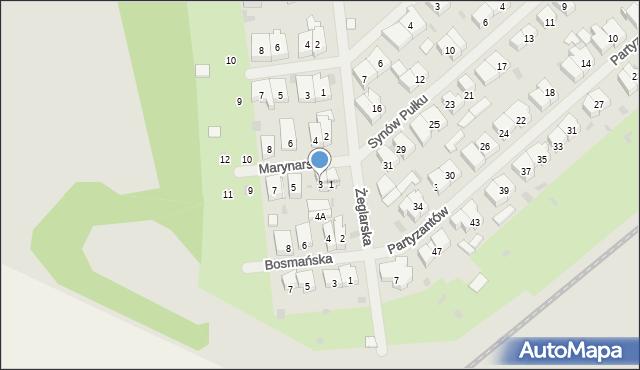 Kołobrzeg, Marynarska, 3, mapa Kołobrzegu