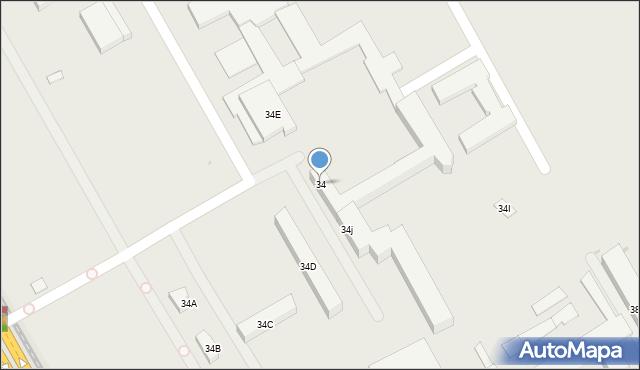 Warszawa, Marymoncka, 34, mapa Warszawy
