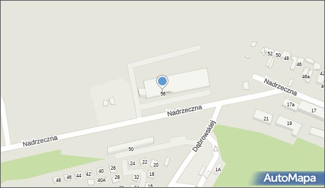 Konin, Nadrzeczna, 56, mapa Konina