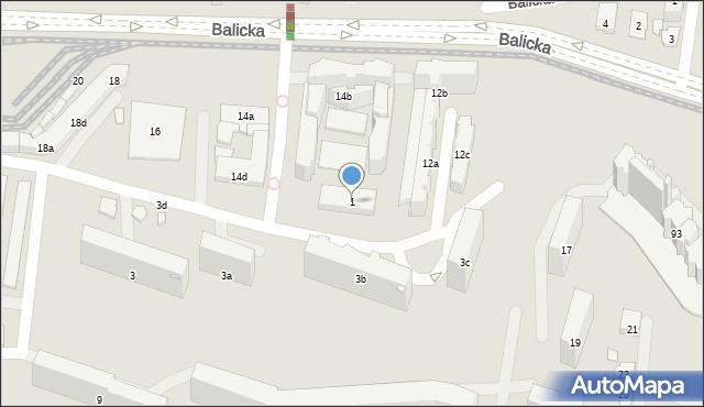 Kraków, Na Błonie, 1, mapa Krakowa