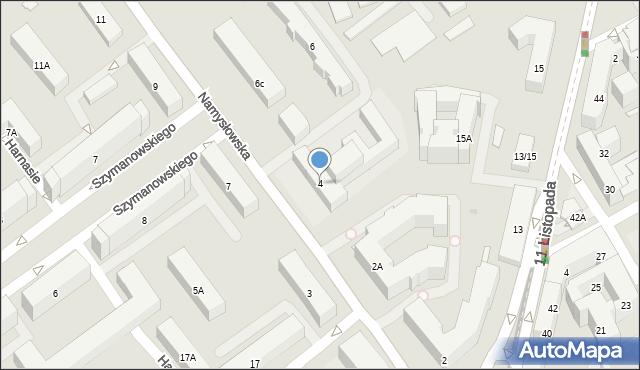 Warszawa, Namysłowska, 4, mapa Warszawy