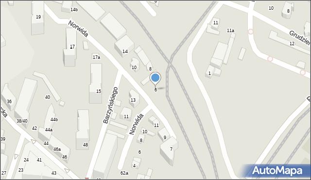 Poznań, Norwida Cypriana Kamila, 6, mapa Poznania