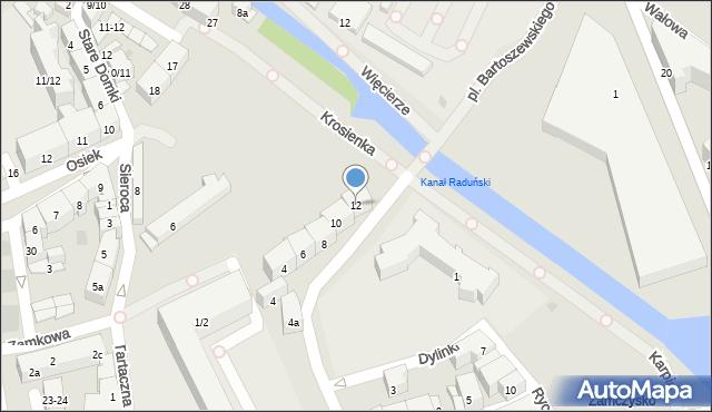 Gdańsk, Obrońców Poczty Polskiej, 12, mapa Gdańska