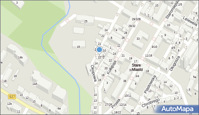 Olsztyn, Okopowa, 12, mapa Olsztyna