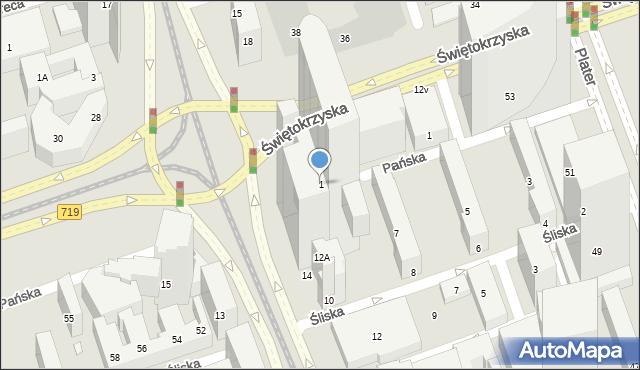 Warszawa, ONZ, rondo, 1, mapa Warszawy