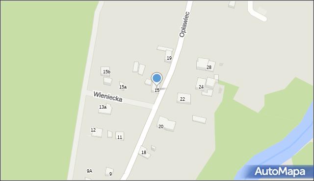 Bydgoszcz, Opławiec, 15, mapa Bydgoszczy