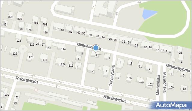 Warszawa, Oszczepników, 4, mapa Warszawy