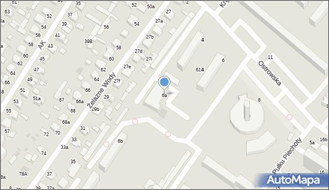 Włocławek, Ostrowska, 6a, mapa Włocławka