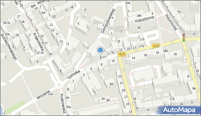 Opole, Ozimska, 5, mapa Opola