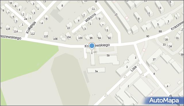 Dębica, Parkowa, 1, mapa Dębicy