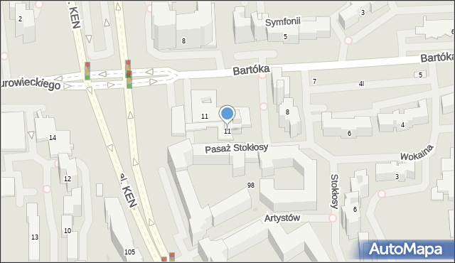Warszawa, Pasaż Stokłosy, 3, mapa Warszawy
