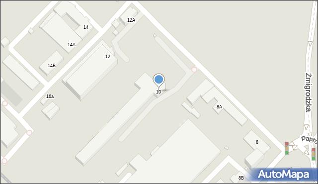 Wrocław, Paprotna, 10, mapa Wrocławia