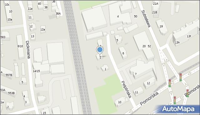 Gdańsk, Pelplińska, 2, mapa Gdańska