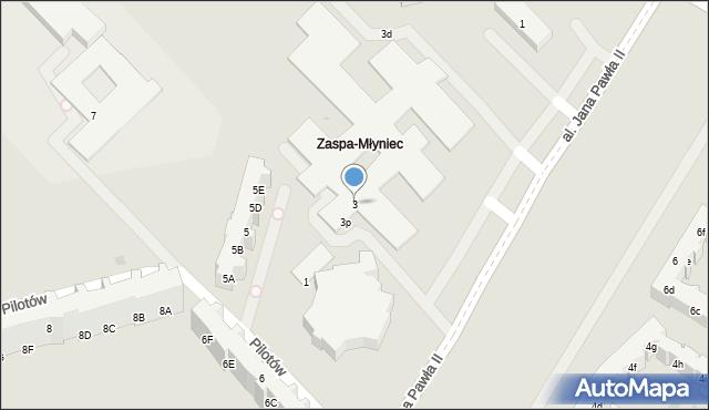 Gdańsk, Pilotów, 3, mapa Gdańska