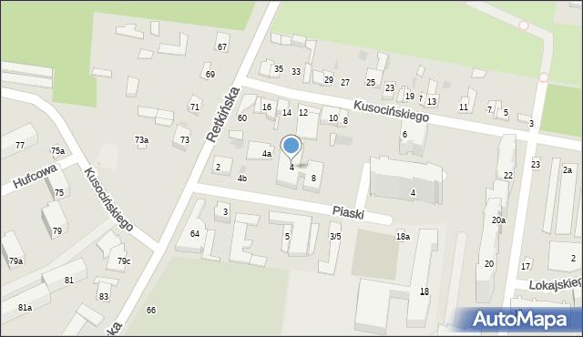 Łódź, Piaski, 4, mapa Łodzi