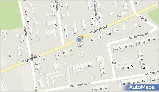 Sulęcin, Poznańska, 14, mapa Sulęcin