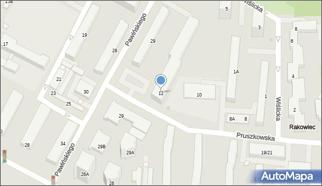 Warszawa, Pruszkowska, 12, mapa Warszawy
