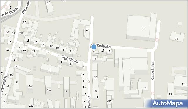 Bydgoszcz, Racławicka, 20, mapa Bydgoszczy