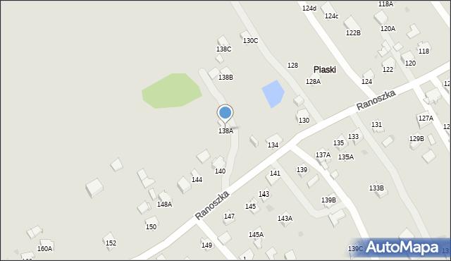 Jastrzębie-Zdrój, Ranoszka R., 138a, mapa Jastrzębie-Zdrój