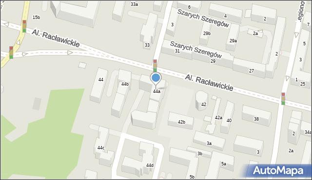 Lublin, Racławickie, 44a, mapa Lublina