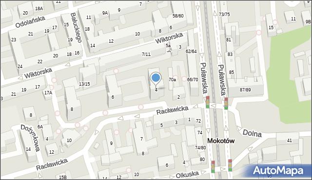 Warszawa, Racławicka, 4, mapa Warszawy