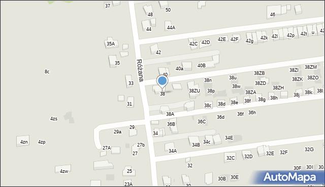 Wieliczka, Różana, 38, mapa Wieliczka