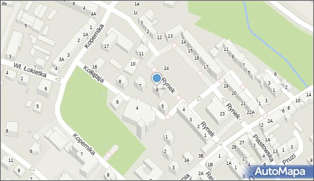 Lubin, Rynek, 6, mapa Lubin