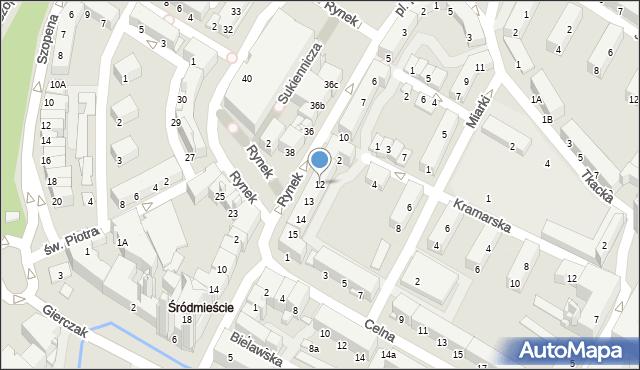 Nysa, Rynek, 12, mapa Nysy