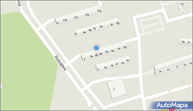 Toruń, Rydygiera Ludwika, 6b, mapa Torunia