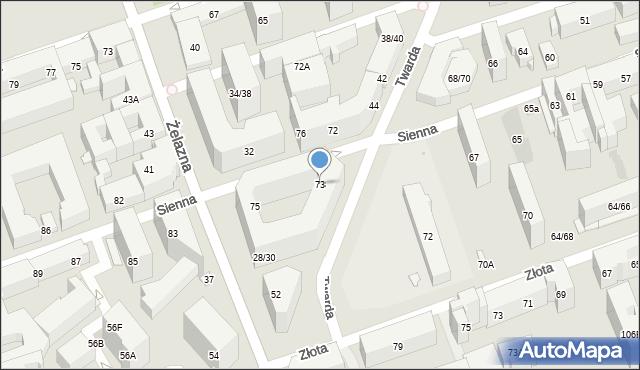 Warszawa, Sienna, 73, mapa Warszawy