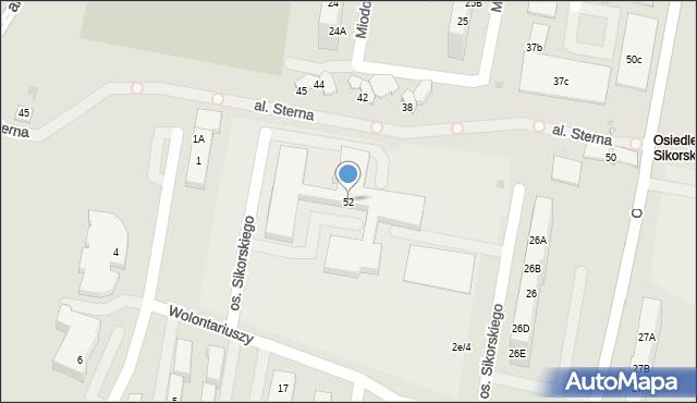 Żory, Sikorskiego, 52, mapa Żor