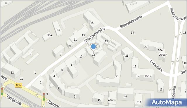 Warszawa, Skaryszewska, 12, mapa Warszawy